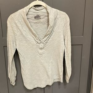 Anthropologie Knit Top With Roll Sleeves